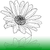 Vector clipart: flower sketch