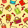 Vector clipart: background of woman`s bags