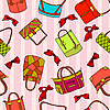 Vector clipart: background of woman's bags