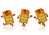 Vector clipart: sim card in the form of little people