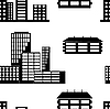 Vector clipart: Different kind of houses and buildings.