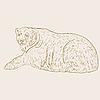 Vector clipart: White Polar Bear..