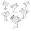 Vector clipart: Eurasian Curlew, bird..