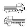 Vector clipart: Car , black lines