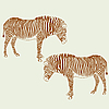 Vector clipart: Two zebras..
