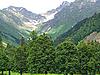 아름 다운 녹색 산 풍경 | Stock Foto