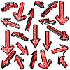 Векторный клипарт: набор красные стрелки