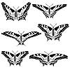Векторный клипарт: набор красивых бабочек