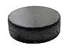 Black old hockey puck  | Stock Foto
