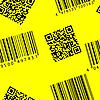 Векторный клипарт: Штрих-кодов и QR-код. Бесшовный фон.