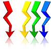 Векторный клипарт: Оригами стрелкой,.