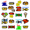 Vector clipart: set of food.