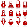 Vector clipart: set of metal locks of different shapes