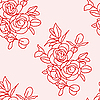 Vector clipart: Seamless background with roses.