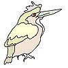 Векторный клипарт: Маленькая птичка леса