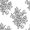 Векторный клипарт: Бесшовный фон с розами.
