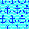Vector clipart: seamless wallpaper with sea anchors
