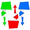 Vektor Cliparts: abstrakter Origami Pfeil