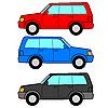 Set of icons - transportation symbols   Stock Vector Graphics