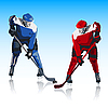 Vector clipart: Ice hockey players