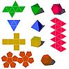 Vector clipart: colorfull 3d geometric shapes