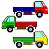 Vector clipart: Set of icons - transportation symbols