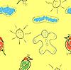 Векторный клипарт: бесшовных детей обои с рисунками `