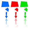 Abstract origami arrow