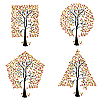 Vector clipart: Trees of different geometric shapes