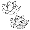 Vektor Cliparts: Orientalische Lotus-Blume