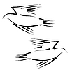Vector clipart: Concept of love or peace. Set of white doves
