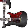 Vector clipart: Black electric guitar