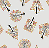 Vector clipart: Seamless wallpaper the trees background