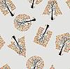 Vektor Cliparts: Seamless wallpaper die Bäume Hintergrund