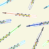 Vector clipart: Seamless wallpaper the medical glass mercury thermometer