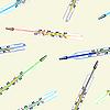 Vektor Cliparts: Seamless wallpaper die medizinische Glas Quecksilber-Thermometer
