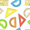 Vektor Cliparts: Seamless wallpaper das Lineal und Winkelmesser Linie des Dreiecks