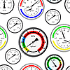 Vector clipart: Seamless wallpaper the gas manometer