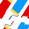 Vektor Cliparts: Seamless wallpaper die Platte für die Malerei