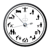Vector clipart: Clock of icons of people