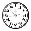 Vektor Cliparts: Clock von Ikonen des Menschen