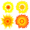 Vector clipart: Set of suns. Elements for design