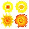 Vektor Cliparts: Set Sonnen. Elemente für das Design