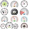 Vektor Cliparts: Set Auto Geschwindigkeitsmesser von Racing-Design.
