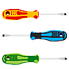Vector clipart: Screwdriver with colored pen.