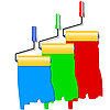Vector clipart: Three roller for painting