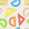 Vector clipart: Seamless wallpaper the ruler and protractor line of the triangle