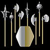 Vector clipart: medieval weapon and shield