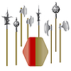 Vector clipart: medieval weapons and shield