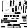 Vector clipart: set of different tools